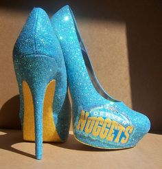 Denver Nuggets Glitter High Heels