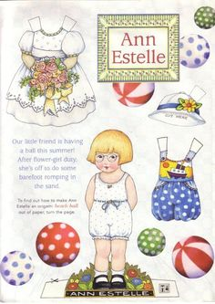Ann Estelle Summer* 1500 free paper dolls at Arielle Gabriel's The International Paper Doll Society free paper dolls for my Pinterest friends..*