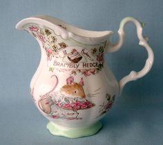 Brambly Hedge milk jug Teapot Cookies, Brambly Hedge, Emma Bridgewater, China Sets, Vase, Rose Cottage, Beatrix Potter, Royal Doulton, Hedges