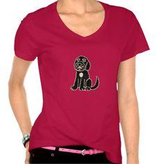Cute Cartoon Labradoodle T-Shirt #labradoodle #black #dogs #shirts #funny #pets And www.zazzle.com/inspirationrocks*