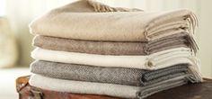 Bronte Pure Alpaca Blanket Throw - Natural Brown