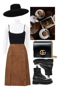 """Untitled #641"" by chandele ❤ liked on Polyvore featuring Michael Kors, Maison Michel, Vanessa Seward, R13 and Gucci"