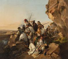 Μάχη Ελλήνων με Τούρκους.