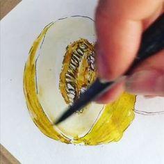 yellow melon speed art sketching.).#foodillustration #foodillustrator #foodart #foodie #foodgasm #cooking #cook #illustration #art #vegan #bratislava #slovakartist #czechartist #vegetarian #fruit #vegetable #melon #yellowmelon #artist #foodpainting #foodblog #foodblogger #streetfood #lovefood #delicious #yummy #bratislavafood #food #speedart Food Illustrations, Illustration Art, Speed Art, Food Painting, Personal Portfolio, Food Drawing, Bratislava, Street Food, Food Art