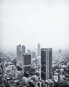 A rainy and cloudy Frankfurt Skyline!