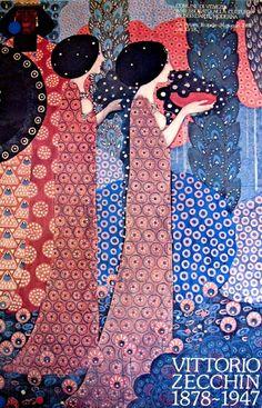 Vittorio Zecchin (1878-1947) was a painter, graphic designer, designer of glass, furniture and ceramics.