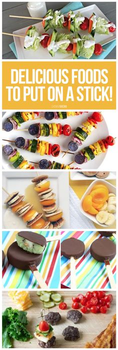 Healthy food on a stick...must try!