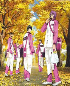 Murasakibara, Himuro, Okamura, Liu et Fukui // Yosen // Kuroko no Basket Me Me Me Anime, Anime Guys, Kuroko No Basket Characters, Magi Kingdom Of Magic, Another Anime, Kuroko's Basketball, Manga Games, Manga Drawing, Aesthetic Anime