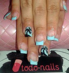 Uñas de acrílico veraniegas!!! Fancy Nails, Nail Designs, Nail Art, Design Ideas, Beauty, Aesthetic Center, Nail Decorations, Make Up, Nail Desings