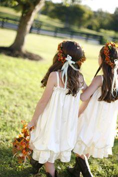 Enchanted Florist Farm Wedding Flower Girls