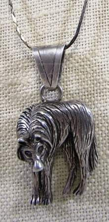 shopgoodwill.com: Beware The Wolf Sterling Necklace