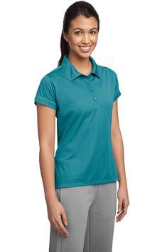 52a064b4 Golf Clothing *** SportTek Womens Contrast Stitch Micropique Sport Wick Polo  XXL Tropic Blue