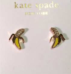 New! Kate Spade Banana Stud Earrings. Get the lowest price on New! Kate Spade Banana Stud Earrings and other fabulous designer clothing and accessories! Shop Tradesy now