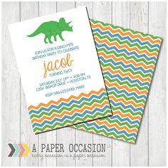 Dinosaur Birthday Invitation Dinosaur Party Invitation Boys
