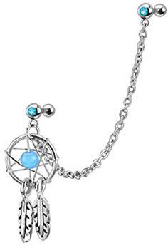 Dream Catcher With Gemmed Double Cartilage/Tragus 16g Barbell Chain Dangle (Aqua) Pierced Owl http://www.amazon.com/dp/B00WXI4EJU/ref=cm_sw_r_pi_dp_twKNwb12M0VN1