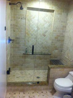 Inspiring Custom Steam Shower With Frameless Sliding Door And Green Grey Wall Tiles As Well As Smart Wall Lights Inside Shower Room With Smart White Toilet Inspiring Modern Bathroom Small Space Ideas