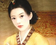 Ancient Chinese Beauty by Der Jen (Qing Dynasty)