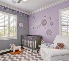 Modernes Babyzimmer modernes babyzimmer in lila und grau gestalten kinderzimmer
