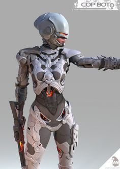 Personal project: female version of a ROBOCOP character