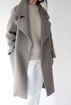 neutral minimal womens pea coat