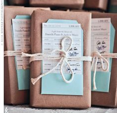 Wrapped Books as Favors- I can't wait to have a party once my book is published!!!