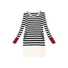 Autumn Dress - Striped Bodycon Long Sleeve White Dress #pariscoming your personal style online store. #outfit #stylist #Styling #streetstyle #fashionblog #fashiondiaries #fashiondiary #WearIt #WhatYouWear ✿ ❀ like it? buy now ❀ ✿