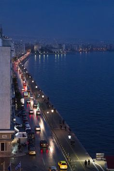 Thessaloniki by night, Greece Beautiful Islands, Beautiful Places, Places Around The World, Around The Worlds, Greece Travel, Airplane View, The Good Place, Places To Visit, Night