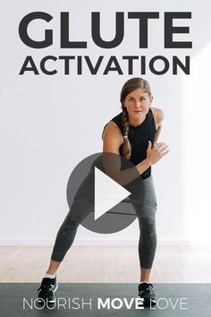 The best glute activation exercises to warm up and prep your booty for your next leg day workout! Activating your glute muscles is crucial if you want to grow your booty at home. We have so many big, powerful muscles in the lower body, sometimes the glutes can be overpowered! Leg Workout With Bands, Workout Warm Up, Hip Workout, Workout Videos, Workout Women, Hip Thrust Workout, Glute And Hamstring Workout, Flexibility Workout, Workout Routines