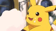 Pokemon, Pikachu! eating cotton candy :3.