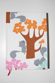 Squirrels handbound notebook