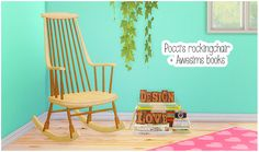 Poccis Paper Moon rockingchair + Awesims books I hadn't seen this rockingchair until today and I totally fell in love with it, thinking my sims would too ^^. Sadly our sims wont be able to actually...