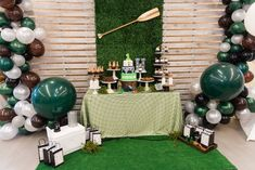 Light the fire and roast that s'more this Camping Birthday Party by Monica and Cassie of TC Designs, out of Boston, MA, will have you begging for more! Filled with adventure and cute fun, this camping party is a celebration for all outdoorsmen! So grab your gear and come on in and check out these awesome elements within:  Camping Themed Birthday Cake Scavenger Hunt Favor Sacks Cute Camping Themed Sweets Lantern and Tree Stump Table Centerpieces Tasty Trail Mix Bar Pallet Board Backdrop…