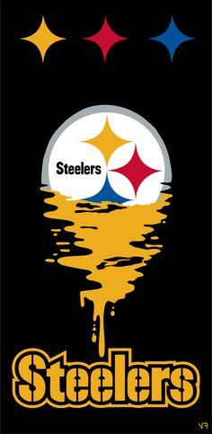 Pittsburgh Steelers Wallpaper, Pittsburgh Steelers Football, Pittsburgh Sports, Football Wallpaper, Steelers Pics, Steelers Stuff, Black Art Pictures, Black Love Art, Steeler Nation