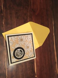 Wedding card. Yellow and black. By Eggmade
