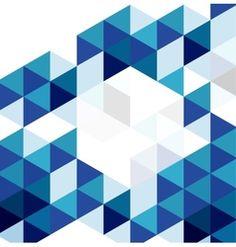 Blue modern geometric design template abstract vector