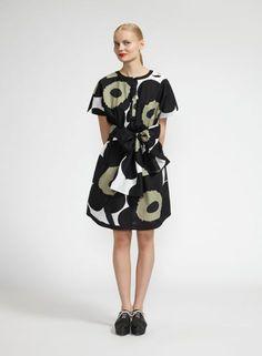 Mae-mekko (valkoinen, musta, musta) |Vaatteet, Naiset, Mekot ja hameet | Marimekko