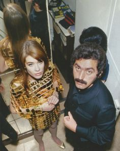 The 60s Bazaar/ Francoise Hardy and designer Paco Rabanne