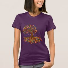 Colorful rainbow tree with bright colors T-Shirt -nature diy customize sprecial design