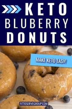 Indulge in a delicious recipe for keto blueberry donuts that both adults and children will enjoy! Made with a combo of coconut and almond flour, these donuts are tender, and packed with blueberry goodness. Low Carb Donut, Low Carb Keto, Ketogenic Recipes, Low Carb Recipes, Ketogenic Diet, Donut Baking Pan, Blueberry Donuts, Keto Donuts, Keto Snacks