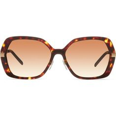 Burberry B4153-Q hexagonal sunglasses (265 AUD) ❤ liked on Polyvore featuring accessories, eyewear, sunglasses, dark havana, burberry glasses, dark sunglasses, burberry eyewear, hexagonal sunglasses and summer sunglasses