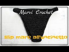 Tutorial slip bikini all'uncinetto, crochet bikini bottom - YouTube