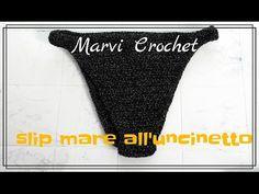 Tutorial slip bikini all'uncinetto, crochet bikini bottom - YouTube