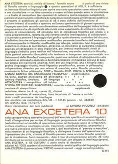 ANA EXCETERA, n. 10, 1971