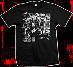 Plan 9 from Outer Space  Ed Wood  Vampira  Bela by DammitTees