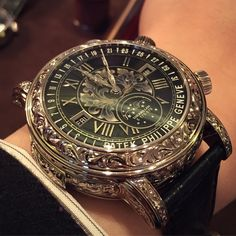 Patek Philippe ~ just beautiful. - Patek Philippe ~ just beautiful. Patek Philippe, Amazing Watches, Beautiful Watches, Cool Watches, Stylish Watches, Luxury Watches For Men, Datejust Rolex, Skeleton Watches, Swiss Army Watches