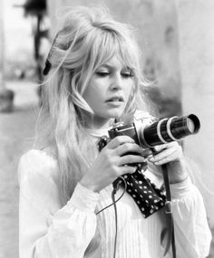 Brigitte Bardot...mostly repinned for the comment about being the best bangs in the history of bangin