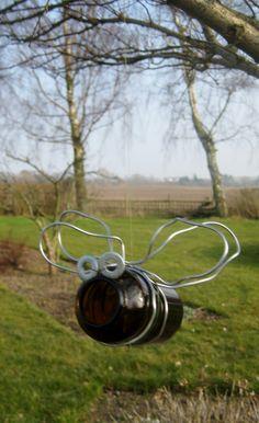 Glass bug Garden Bugs, Garden Art, Garden Projects, Favorite Quotes, Glass, Green, Porch, Wire, Ideas