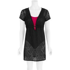 Women's Plus-Size Crochet Dress Swim Cover-Up