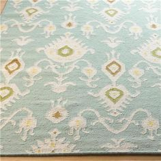 Ikat Pattern Dhurrie Rug - Aqua or Beige…shades of light 8x10 $764 - 5x8 $400