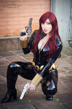 Black widow cosplay by Danielle Vedovelli Latex Cosplay, Cosplay Anime, Best Cosplay, Cosplay Girls, Female Cosplay, Cosplay Marvel, Bishoujo Statue, Black Widow Cosplay, Marvel Images